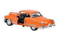 Модель автомобиль кабриолет 1,36 same toy vintage car 601-3ut-2 оранжевая со светом и звуком