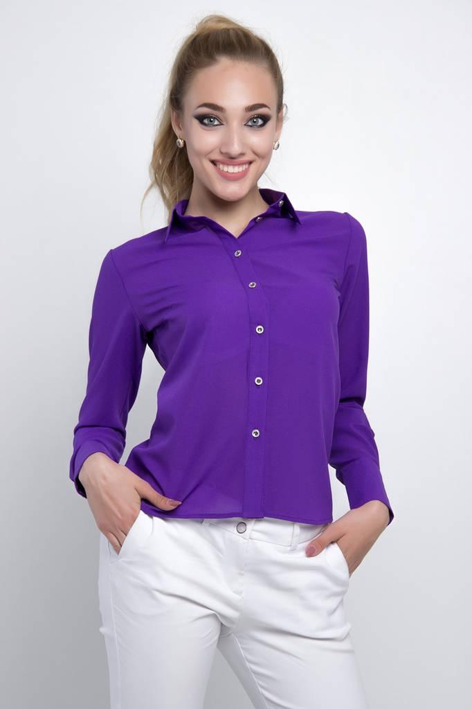 Женская Блузка  цвет: сиреневый