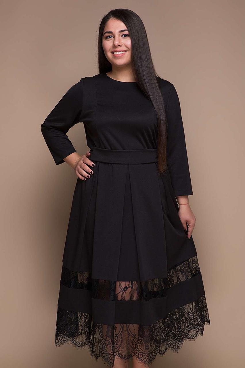 69c854a1c14 Красивое модное женское платье больших размеров цвет  черный