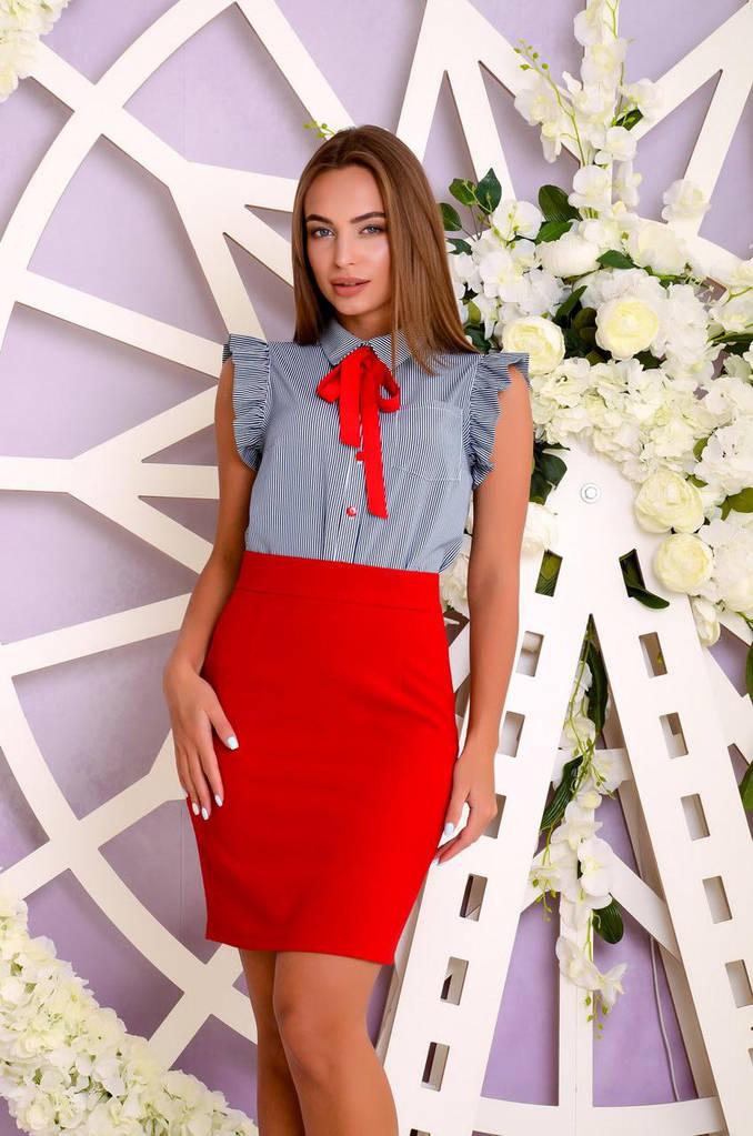 Женская Блуза, цвет: полоска