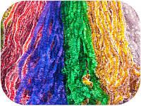 Мишура Новогодняя d=2,5см , 3м,100шт/в уп. (1 уп.) 5 расцветок по 3м