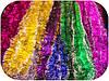 Мишура Новогодняя с белыми кончиками d=10см 50шт/в уп. (1 уп.) микс расцветок по 3м