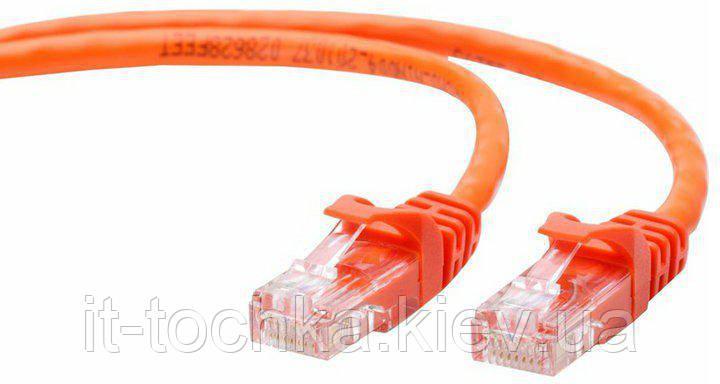 """Патч корд cablexpert pp12-1m/o, utp, категория.5e, литой, 50u """"штекер с защелкой, 1 м, оранжевый"""