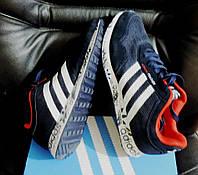 Кроссовки Adidas Feather. Летние мужские кроссовки сетка+замша, реплика