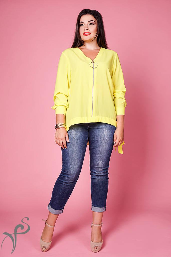 Женская Блуза на молнии XL+