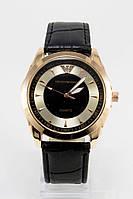 Мужские наручные часы Emporio Armani (Эмпорио Армани), золотой корпус с серебристо - чернымциферблатом ( код: IBW115YB )