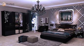 Спальня Богема 4Д Черный Глянец MiroMark