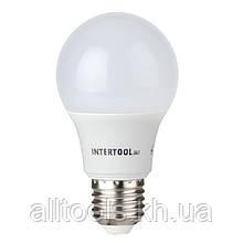 Светодиодная лампа LED 10Вт, E27, 220В, INTERTOOL LL-0014
