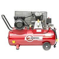 Компрессор 50 л, 1.8 кВт, 220 В, 8 атм, 233 л/мин. INTERTOOL PT-0011, фото 1