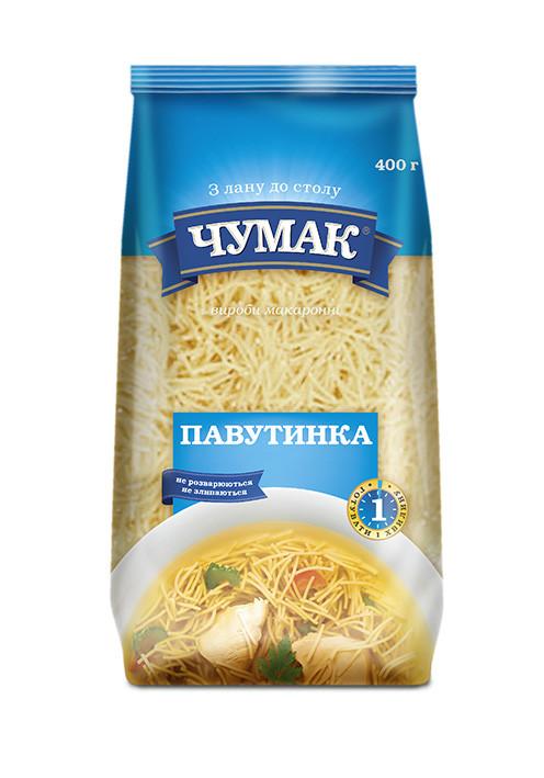"""Макаронные изделия """"Чумак"""" Паутинка 400г"""