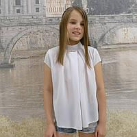 """Блузка для девочки """"модель -1""""(белый)"""