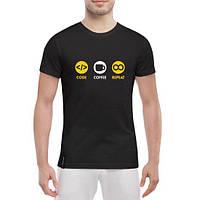 GlobusPioner Мужская футболка Code coffe repeat 74900 , фото 1