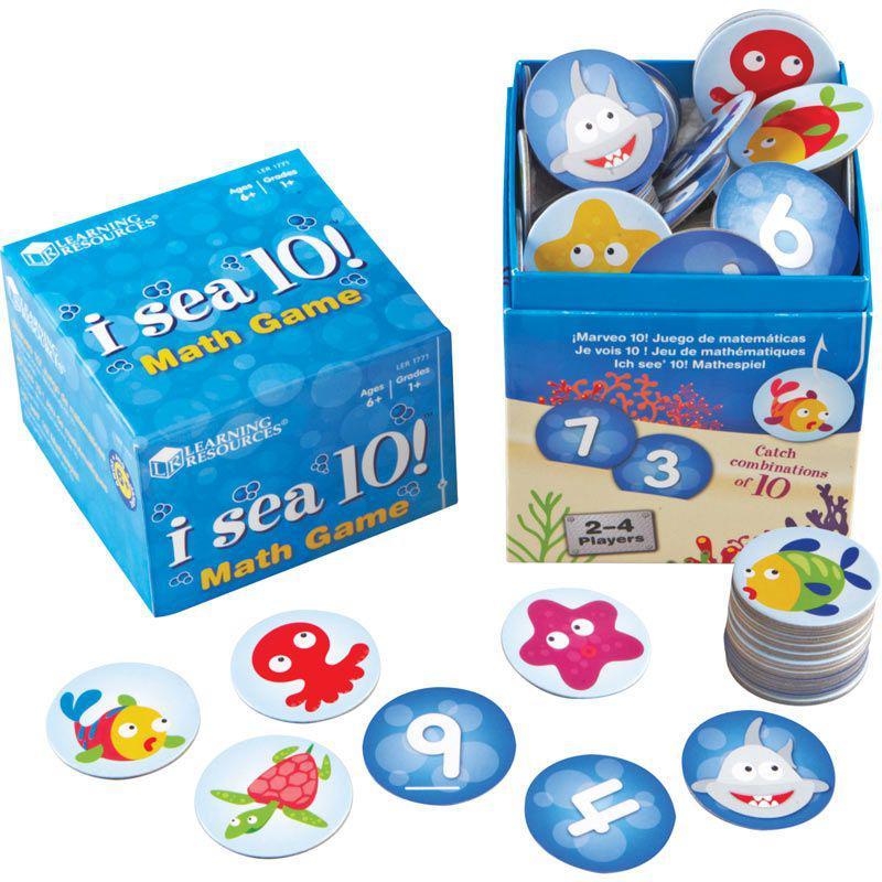 """Математична гра на додавання і віднімання """"Я бачу 10"""" Learning resources"""