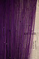 Кисея со стеклярусом квадрат  № 205 Фиолетовая