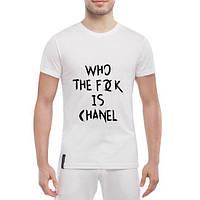 GlobusPioner Мужская футболка Who the fuck is chanel 26004 , фото 1