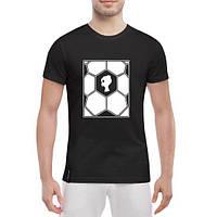 GlobusPioner Мужская футболка Лого на фоне мяча 72334