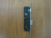 Замок для аллюминиевых дверей 24 мм нажимной 35*85 мм