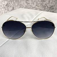 Солнцезащитные очки Fendi Sunglasses Aviator Gold Dark Blue 4737cbd7d8fb5