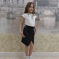 """Школьная юбка, юбка для девочек  """"карандаш""""черный"""