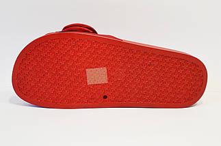 Красные шлепанцы с атласным цветком 830, фото 3