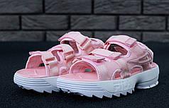 FILA Disruptor Sandals rose, Сандали Фила. ТОП Реплика ААА класса.