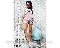 Спортивный костюм с шортами - 21810 (бн)