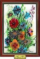 """Схема для вышивки бисером """"Сочный букет цветов"""""""