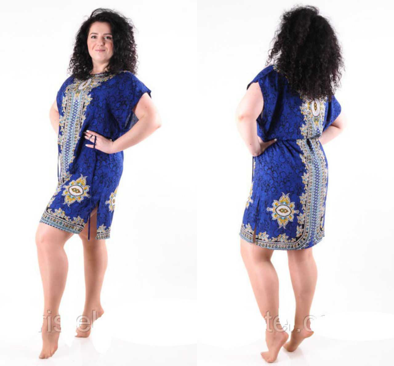 Молодіжне плаття туніка літній з поясом розміри 50-54