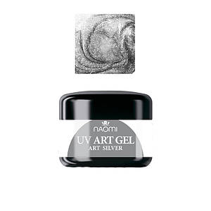 Art-гель Naomi UV Art gel SILVER