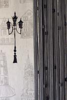 Шторы нити с квадратным стеклярусом № 207 (графит)