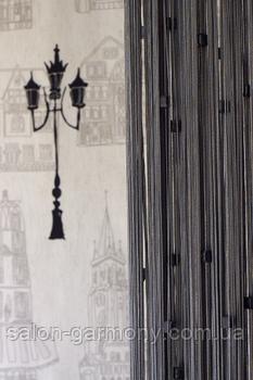 Штори нитки з квадратним стеклярусом № 207 (графіт)