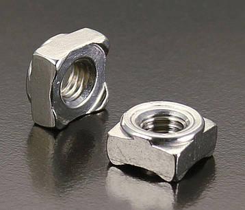 Гайка приварная квадратная  М8 DIN 928 из нержавейки, фото 2