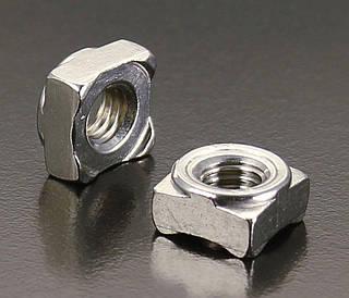 Гайка приварная квадратна М8 DIN 928 з нержавійки