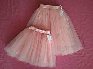 Женская и детская юбочки цвета чайная роза с подкладом.Пошив в любом цвете и размере.