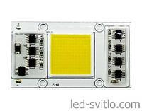Светодиодная матрица COB 220В 20Вт Холодный свет