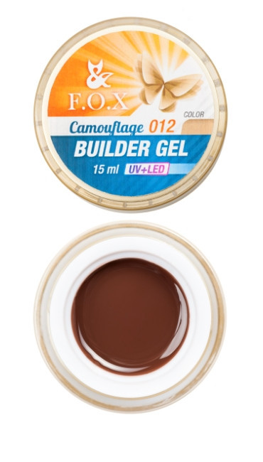 Камуфлирующий гель F.O.X Cover (camouflage) builder gel UV+LED #12, 15 мл