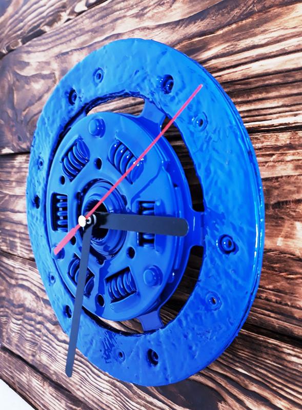 часы настенные круглые синего цвета