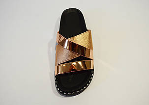 Шлепанцы casual розовое золото 933, фото 3