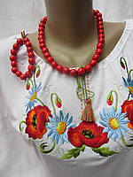 Бусы красные  с браслетом (диаметр бусины 1,6 см)(15/12) (цена за 1шт. +3 грн)