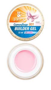 Камуфлирующий гель F.O.X Cover (camouflage) builder gel UV+LED #1, 15 мл