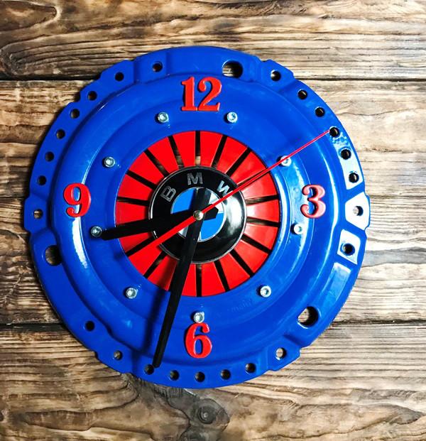 часы лофт круглые синего цвета