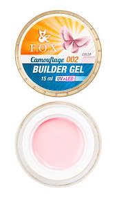 Камуфлирующий гель F.O.X Cover (camouflage) builder gel UV+LED #2, 15 мл