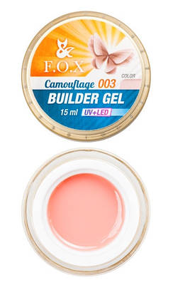 Камуфлирующий гель F.O.X Cover (camouflage) builder gel UV+LED #3, 15 мл, фото 2