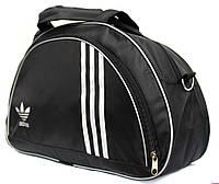 Жіноча тканинна сумка чорного кольору в стилі Adidas (409)