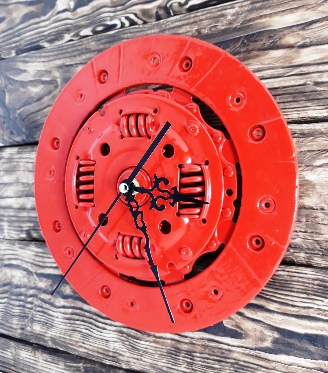 Часы настенные красные стиль стимпанк