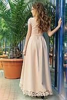 Нарядное длинное асиметричное платье Mirra с перфорацией( 3 цвета) 141(572)