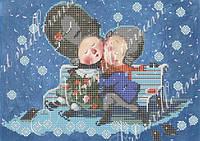 """Схема на ткани для вышивки бисером (Гапчинская) W-339 """"Запиши мой поцелуй в свое сердце..."""""""