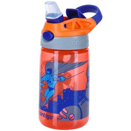 Бутылка детская для воды Contigo Gizmo Flip Autoseal Tangerine Superhero 420 мл