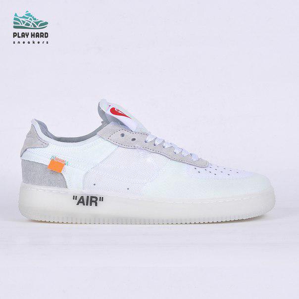 Мужские кроссовки  Nike Air Force 1 Low - White, Копия