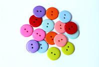 Набор круглых пластиковых пуговиц Pugovichok для рукоделия и творчества 23 мм в ассортименте